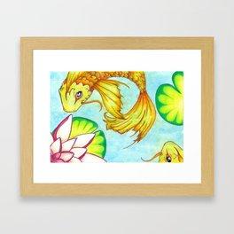 Koi Pond Framed Art Print