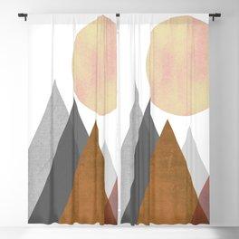 The Gathering, Geometric Landscape Art Blackout Curtain