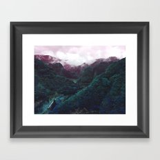 Hometown Valley ~Keikoku~ Framed Art Print