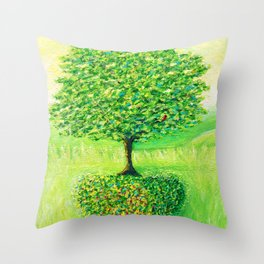 live in love Throw Pillow
