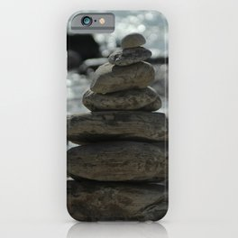 Zen Balancing Pebbles Seashore iPhone Case