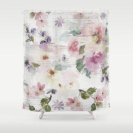Vintage Spring Love Shower Curtain