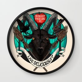 Black Phillip (The Witch) Wall Clock