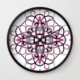 FUCHSIA SACRED GEOMETRY Wall Clock