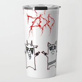 Black Metal Zoo Travel Mug