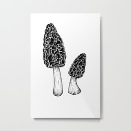 Morel Mushrooms Metal Print