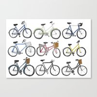 bicycles Canvas Prints featuring Bicycles by Bianca_CS
