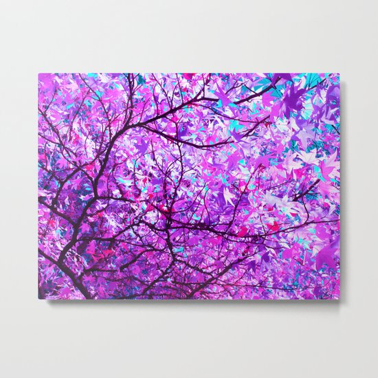 purple tree XX Metal Print