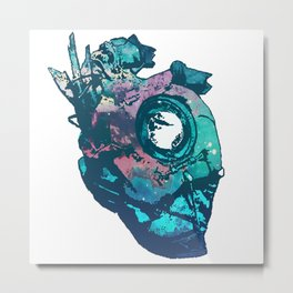 Dishonored - The Heart (Blue) Metal Print