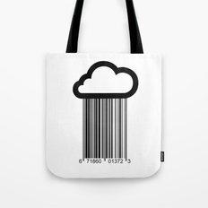 Barcode Cloud illustration  Tote Bag