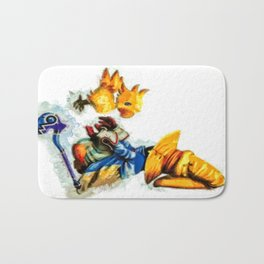 Vivi and the Chocobo Final Fantasy 9 Bath Mat