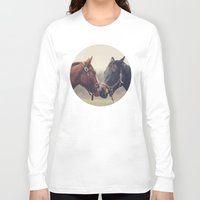 horses Long Sleeve T-shirts featuring Horses  by Laura Ruth