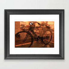 The dawn of motorcycles Framed Art Print