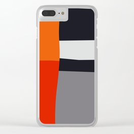 Modern Vintage Minimal Inspired Geometric Colorfield Art Print Clear iPhone Case