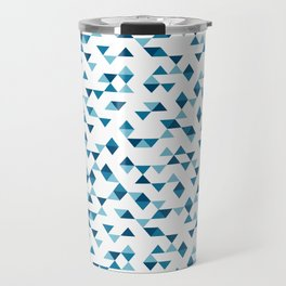 Triangles Blue Repeat Travel Mug