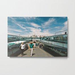 Millennium Bridge towards St Pauls Metal Print