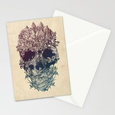 Skull Floral Stationery Cards