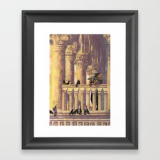 Florence and Pigeons Framed Art Print