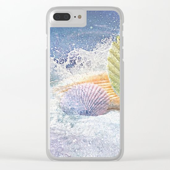 Subtle Sea Splash Clear iPhone Case