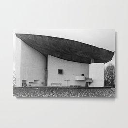 Ronchamp   Notre Dame du Haut chapel   Le Corbusier architect Metal Print