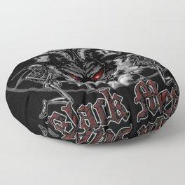 Black Metal Baphomet Pentagram Floor Pillow