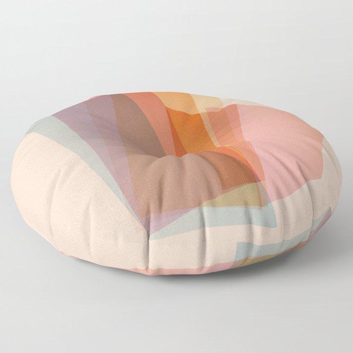 Abstraction_Spectrum Floor Pillow