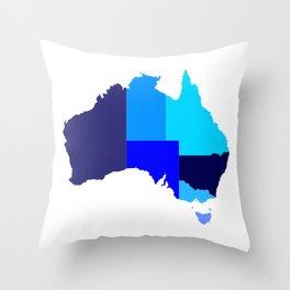 Australia State Silhouette Throw Pillow