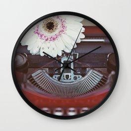 Message of Love Typewriter Wall Clock