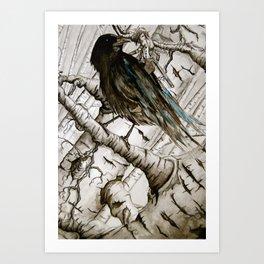 the raven girl Art Print