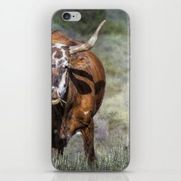 Pretty Female Cow with Horns iPhone Skin