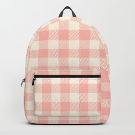 PASTEL GINGHAM 02, blush pink squares Backpack