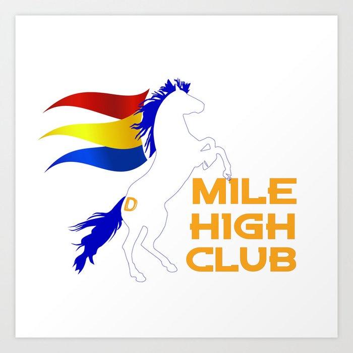Mile High Club Art Print By Ltita100785