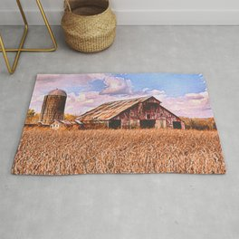 Rustic Barn On The Farm | Acrylic Painting Rug