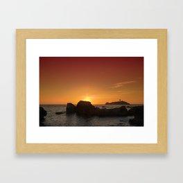 Godrevy Head sunset Framed Art Print