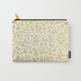 Golden little flowers Carry-All Pouch