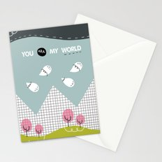 you are my WORLD Stationery Cards