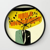 wisconsin Wall Clocks featuring Hello Wisconsin by Josh Franke