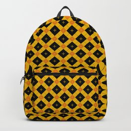 Black And Orange Halloween Argyle Pattern Backpack