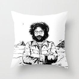 Jerry García Throw Pillow
