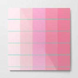 Pink + Teal Swatches Gradient Metal Print