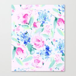 Scattered Lovers Pink Canvas Print