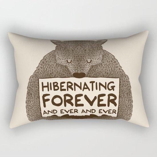 Hibernating Forever Rectangular Pillow