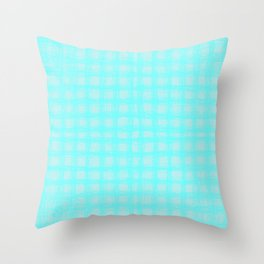 woven cables, blue Throw Pillow