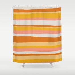 sedona, desert stripes Shower Curtain