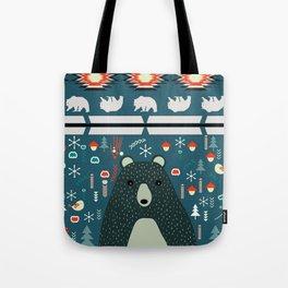 Bear Christmas decoration Tote Bag