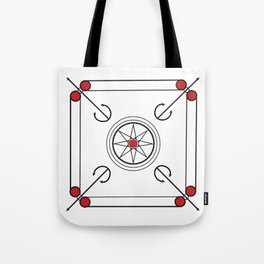 Carrom Board Tote Bag