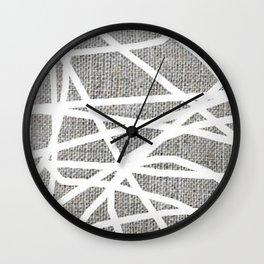 scribble pattern Wall Clock