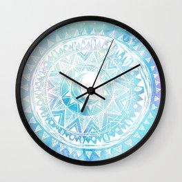 Watercolor Moon Mandala Wall Clock