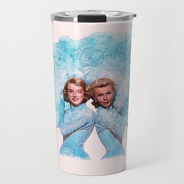 Sisters - White Christmas - Watercolor Travel Mug