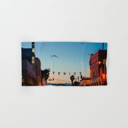 Venice Beach California Sunrise Hand & Bath Towel